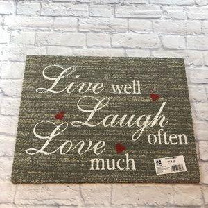 Other - Live Well Grey Doormat